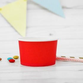 Креманка для десерта, бумажная, набор 10 шт., цвет красный