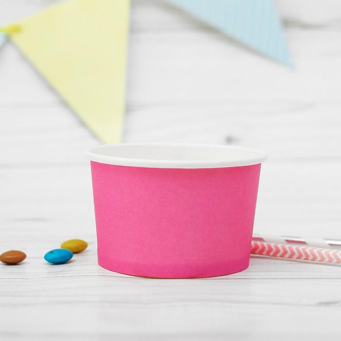 Креманка для десерта бумажная, цвет розовый (набор 10 шт.)