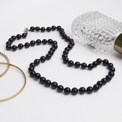 """Beads ball No. 8, the classic """"black agate"""", 45cm"""