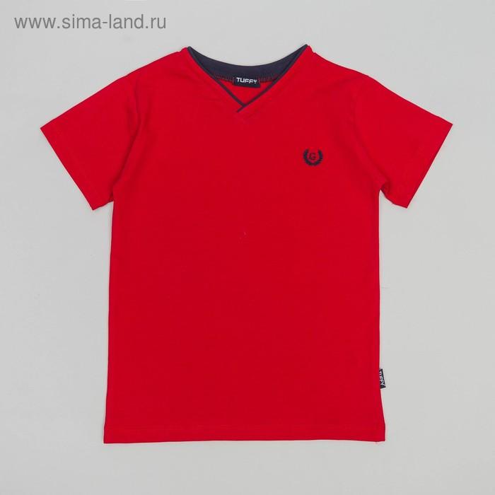 Футболка для мальчика, рост 146 см, цвет красный G18-234
