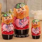 Матрёшка «Дед с поросёнком», 3 кукольная, 18 см