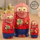 Матрёшка «Дед с яйцом», 3 кукольная, 15 см