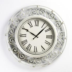 """Часы настенные, серия: Интерьер, """"Версаль"""", цвет-слоновая кость, d=49 см"""