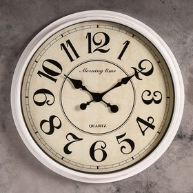 Wall clock, series: Interior, Carat, white, d=51 cm