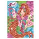 Алмазная мозаика для детей Феи ВИНКС: Флора + емкость, стержень, клеевая подушечка
