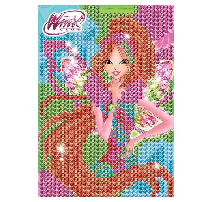 Мозаика алмазная для детей Феи ВИНКС: Флора