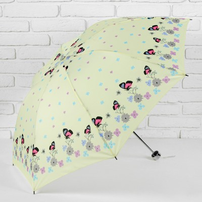 "Umbrella mechanical ""Spring meadow"", 4 addition, 8 spokes, R = 49 cm, colour yellow"