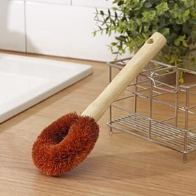 Щётка для чистки посуды Доляна, 23×9×3,5 см, щетина кокос, деревянная ручка - фото 4648080