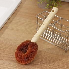 Щётка для чистки посуды Доляна, 23×9×3,5 см, щетина кокос, деревянная ручка - фото 4648081