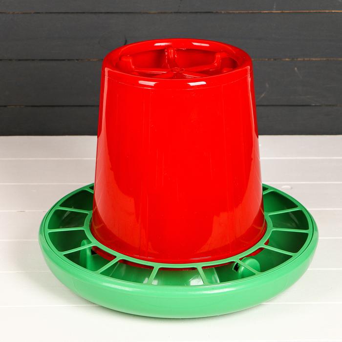 Кормушка бункерная для домашней птицы на 10 кг, цвет МИКС, «Птичий дворик»