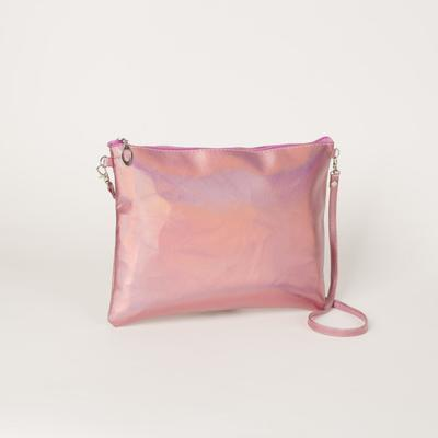 Bag, Department, with zipper, long strap, color pink