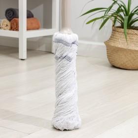 Швабра с отжимом, насадка х/б, стальная ручка 130 см