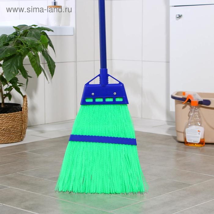 Broom plastic, metal handle 28×140 cm