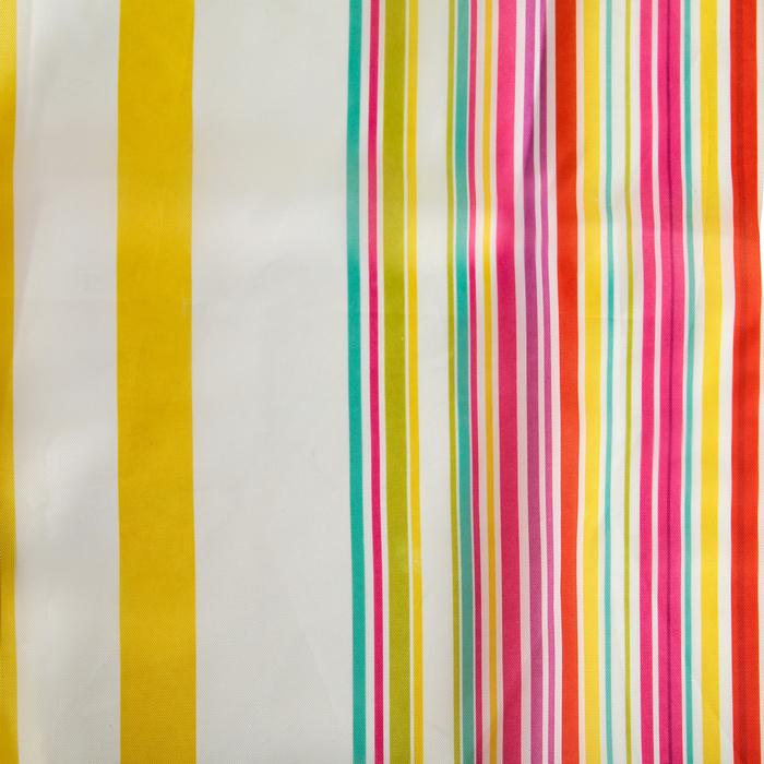 """Штора для ванной 180×180 см """"Полосочки"""", полиэстер, цвет жёлто-розовый"""