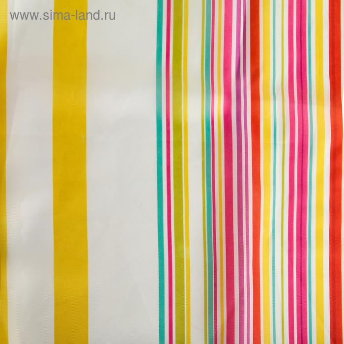 """Штора для ванной """"Полоска"""" 180х180 см полиэстер, цвет жёлто-розовый"""