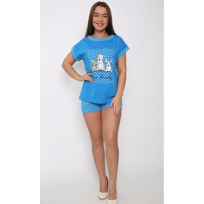 Комплект женский (футболка, шорты) ТК-623 цвет МИКС, р-р 50