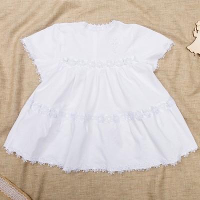 Платье крестильное, рост 62-68 см, цвет белый 2022_М