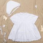 Платье крестильное +чепчик, рост 62-68 см, цвет белый 2022/1_М