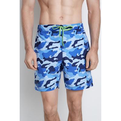 Купальные шорты мужские Grivus цвет синий, принт камуфляж, р-р 48 (M)