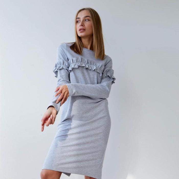 Платье женское KAFTAN с рюшей, р-р 44-46, меланж