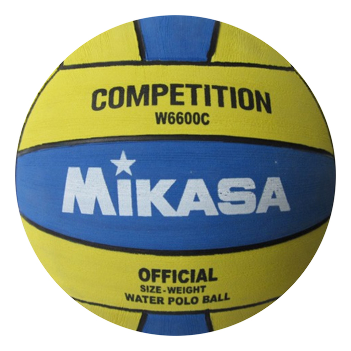 "Мяч для водного  поло ""MIKASA W6600С"", мужской размер, резина, жел-синий"