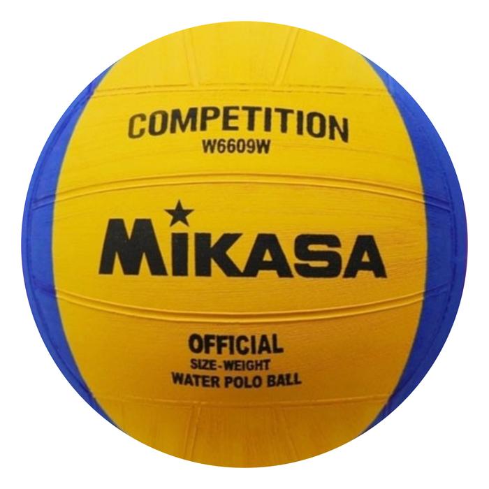 Мяч для водного поло женский, MIKASA  W6609W,  резина, цвет жёлтый/синий