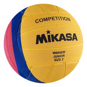 Мяч для водного поло MIKASA W6608W Junior, размер 2, вес 300-320 г