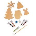 Набор для творчества «Новый год», №2, 5 фигурок, акриловые краски, кисть, буклет