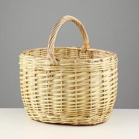 Корзина «Грибная», №2, с обруча, 37×26×23/36 см, 15 л, ручное плетение, лоза