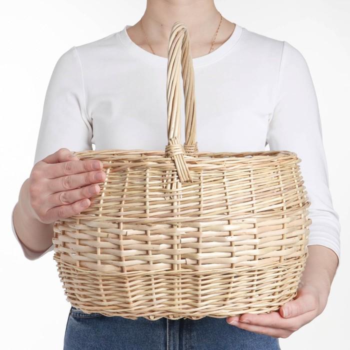 Корзина «Грибная», №2, 34×28×37 см, 10 л, ручное плетение, лоза