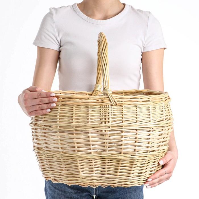 Корзина «Грибная», №5, 40×34×42 см, 20 л, ручное плетение, ива