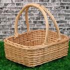 Корзина «Продуктовая», дно=26×21 см, верх: 33×26 см, H=10/29 см, ручное плетение, лоза