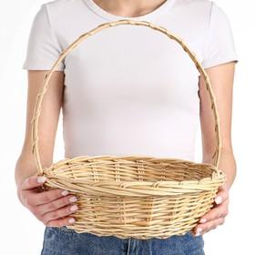 Корзина «Карина», №3, Dдно=25 см, Dверх=31 см, H=9/34 см, ручное плетение, ива