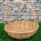 Корзина «Карина», №2, Dдно=16 см, Dверх=30 см, H=9/30 см, ручное плетение, лоза