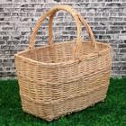 Корзина «Пикник», №1, дно:30х16 см, верх:40×28 см, H=26/43 см, ручное плетение, лоза