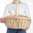 Корзина «Фруктовая», 30/35×21/45×13/18/40 см, ручное плетение, ива