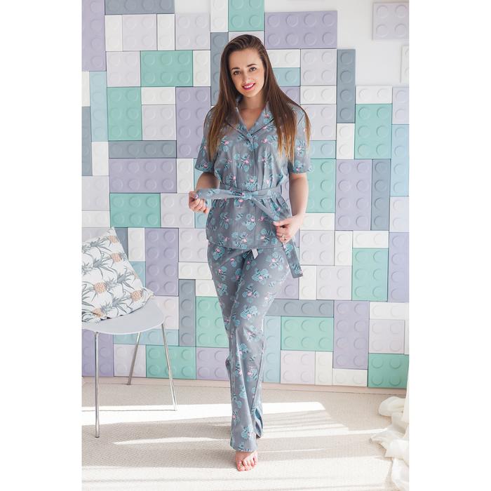 "Рубашка женская KAFTAN ""Tropical"", р-р 40-42, 80% хл, 20% п/э - фото 725432923"