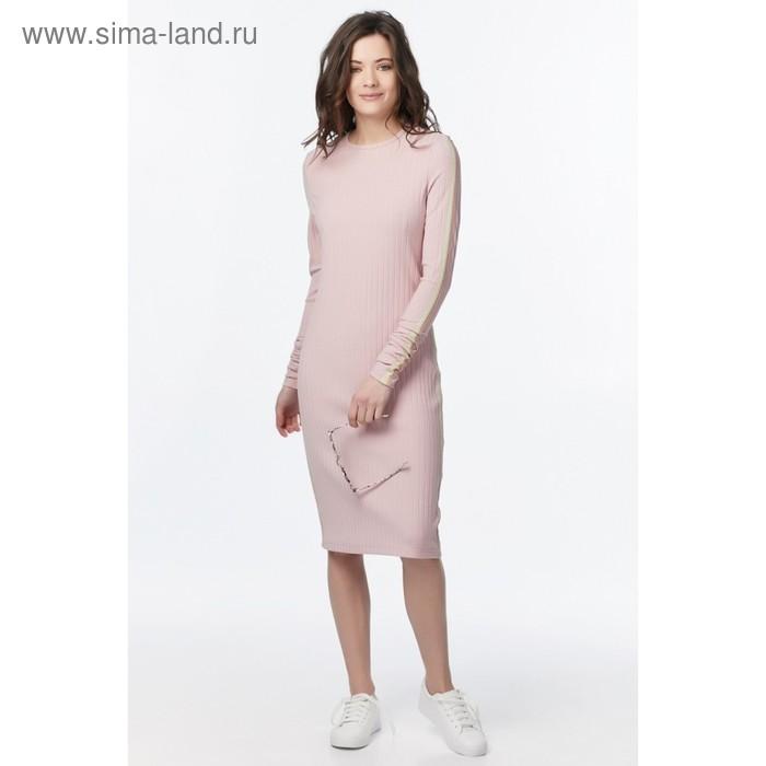 Платье женское, размер 40, цвет бледно-розовый  170-04