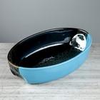 Противень для запекания 1,5 л, капля чёрно-синяя