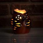 """Соляной светильник """"Сова малая"""", керамика, 13 х 20 х 9 см"""