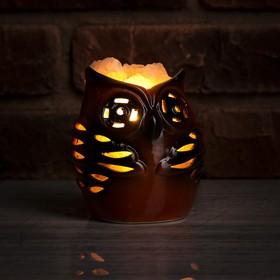 Соляной светильник 'Сова малая', керамика Ош