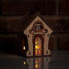 """Соляной светильник """"Домик из дерева с кристаллами"""", деревянный декор, 13 х 11 х 15 см"""