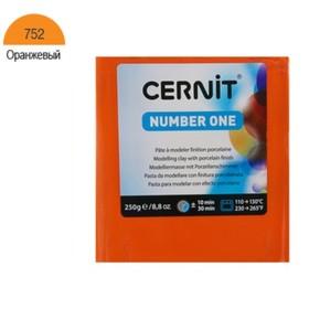 Полимерная глина запекаемая, Cernit Number One, 250 г, оранжевая, №752