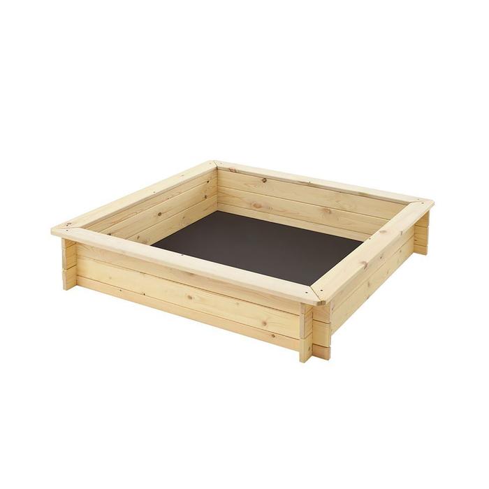 """Песочница деревянная """"Синдбад"""", 110 х 110 х 25 см., 4 лавки, подложка"""