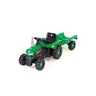 Трактор педальный с прицепом, цвет зелёно-чёрный