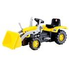 Трактор-экскаватора педальный, цвет жёлто-чёрный