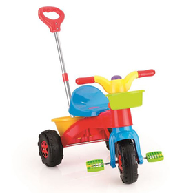 Велосипед «Мой первый», с родительской ручкой, разноцветный