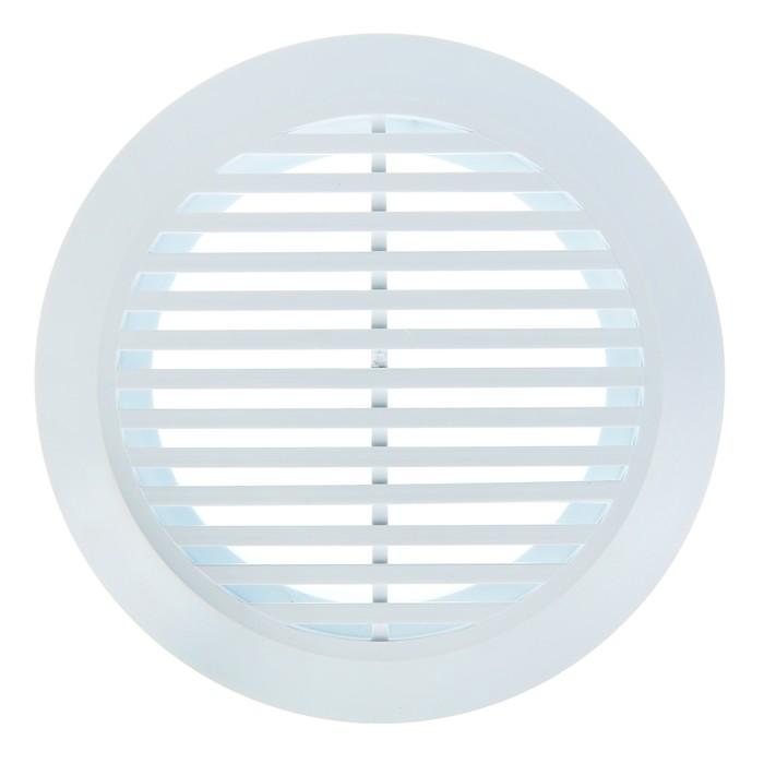 Решетка вентиляционная ERA 10 РКФ, круглая, с фланцем, d=100 мм