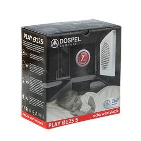 Вентилятор вытяжной Dospel Play Classic 125 S, d=125 мм, с низким уровнем шума - фото 7359890