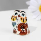 """Souvenir """"Owl"""", 3 cm, color, Gzhel"""